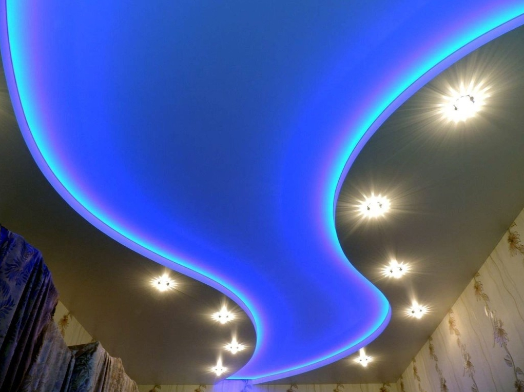 Двухуровневые потолки натяжные: цена на двухъярусный потолок в Санкт-Петербурге